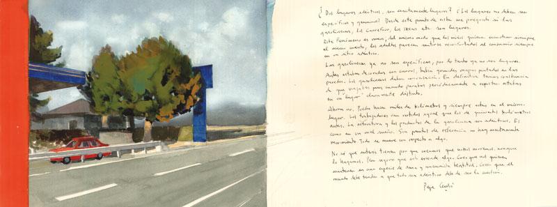 Gasolinera-Villamayor-Acuarela-y-tinta-sobre-papel-29x76cm