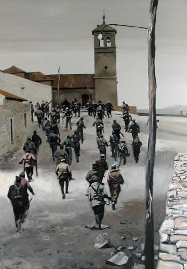 Milicianos-camino-de-Toledo-162x114cm