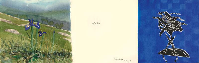 Nada-Acuarela-y-tinta-sobre-papel-25x76cm