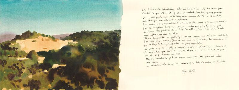 Sierra-de-Alcubierre-Acuarela-y-tinta-sobre-papel-29x76cm
