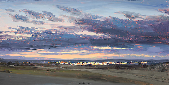 Ciudad-en-la-noche-Oleo-sobre-tabla-40x80cm