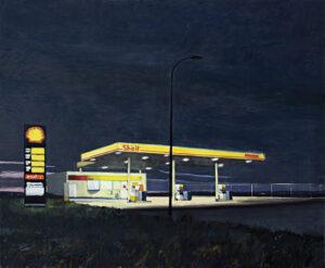 Gasolinera-en-la-carretera-de-Castellon-2009-Oleo-y-acrilico-sobre-lienzo-162x195cm