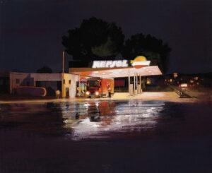 Gasolinera-en-la-noche-2009-Oleo-y-acrilico-sobre-lienzo-200x250cm