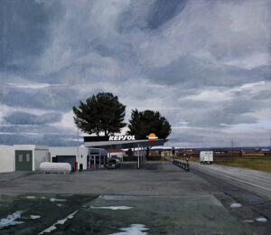 Gasolinera-en-un-dia-nublado-2009-Oleo-y-acrilico-sobre-lienzo-200x230cm