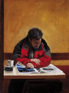 Jose-Luis-Ona-lector-de-periodicos-2009-Oleo-y-acrilico-sobre-lienzo-116x89cm