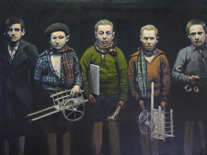 Niños-del-Auxilio-Social-Oleo-sobre-lienzo-100x130cm